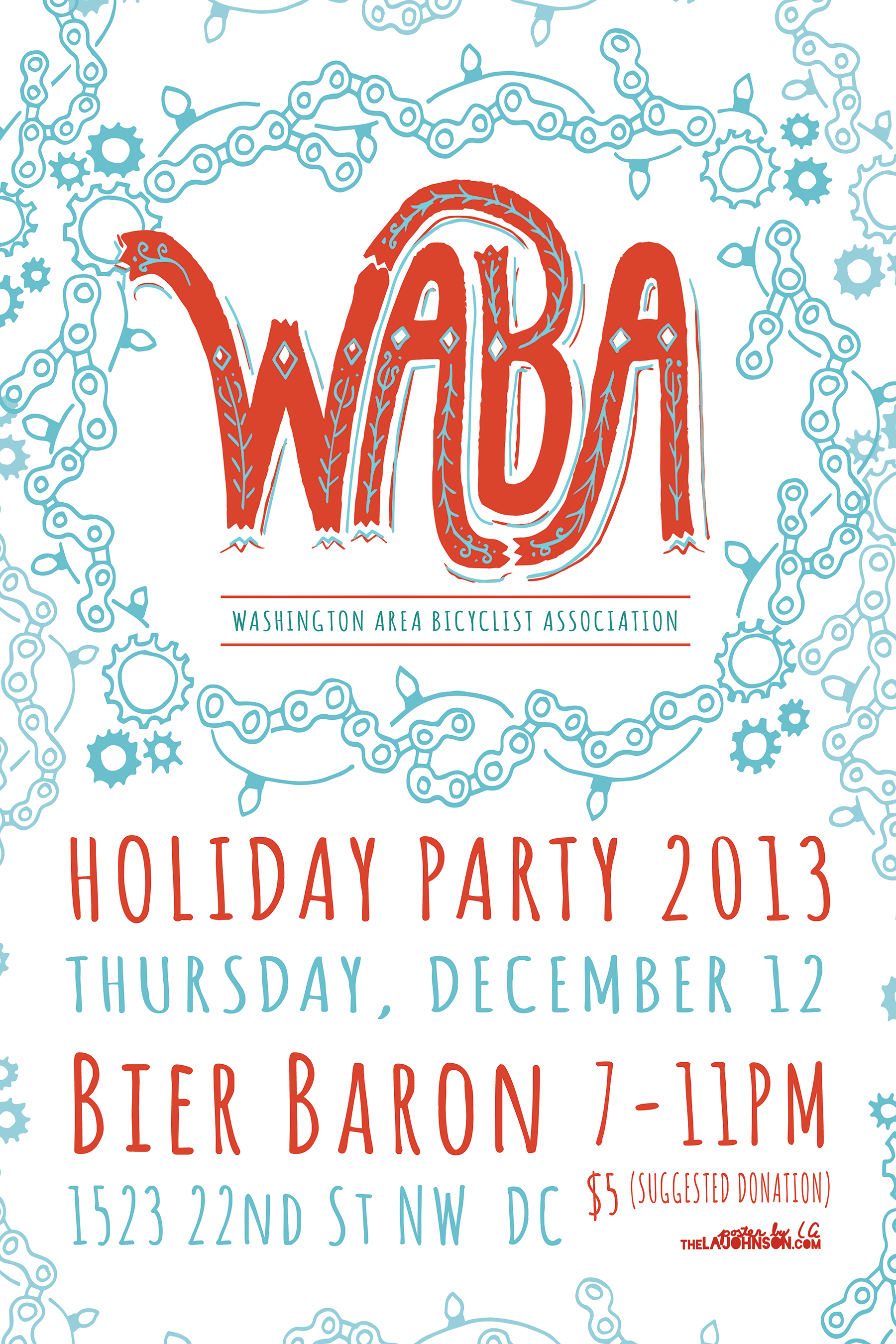 holiday party washington area bicyclist association are you ready for bikes beer and holiday cheer come celebrate the holidays and a year of great bike advocacy work at our annual party