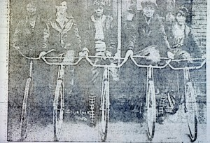 5 cyclists