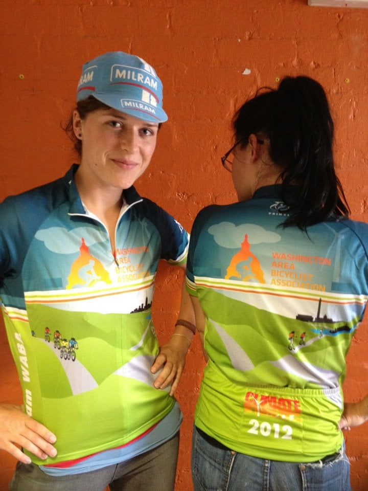 WABA Climate Ride jersey